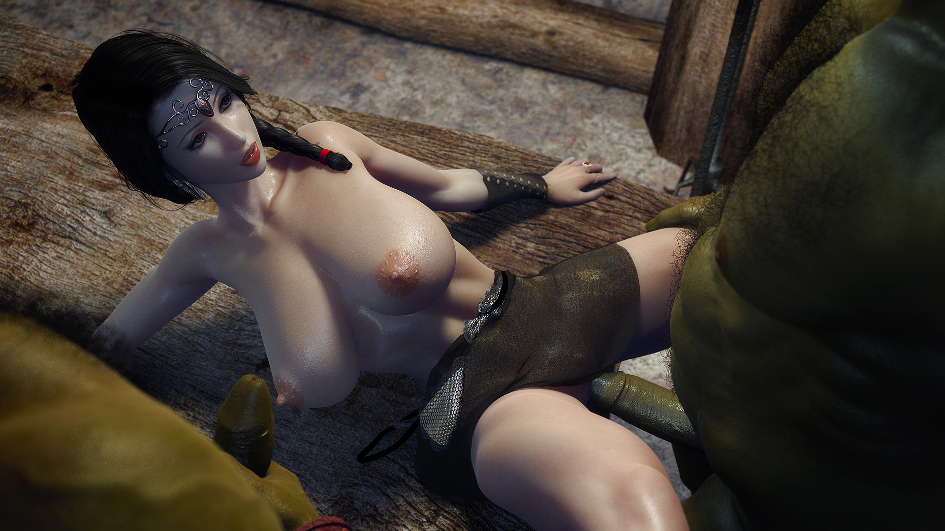 Two orc fuck princess 3d sexual image