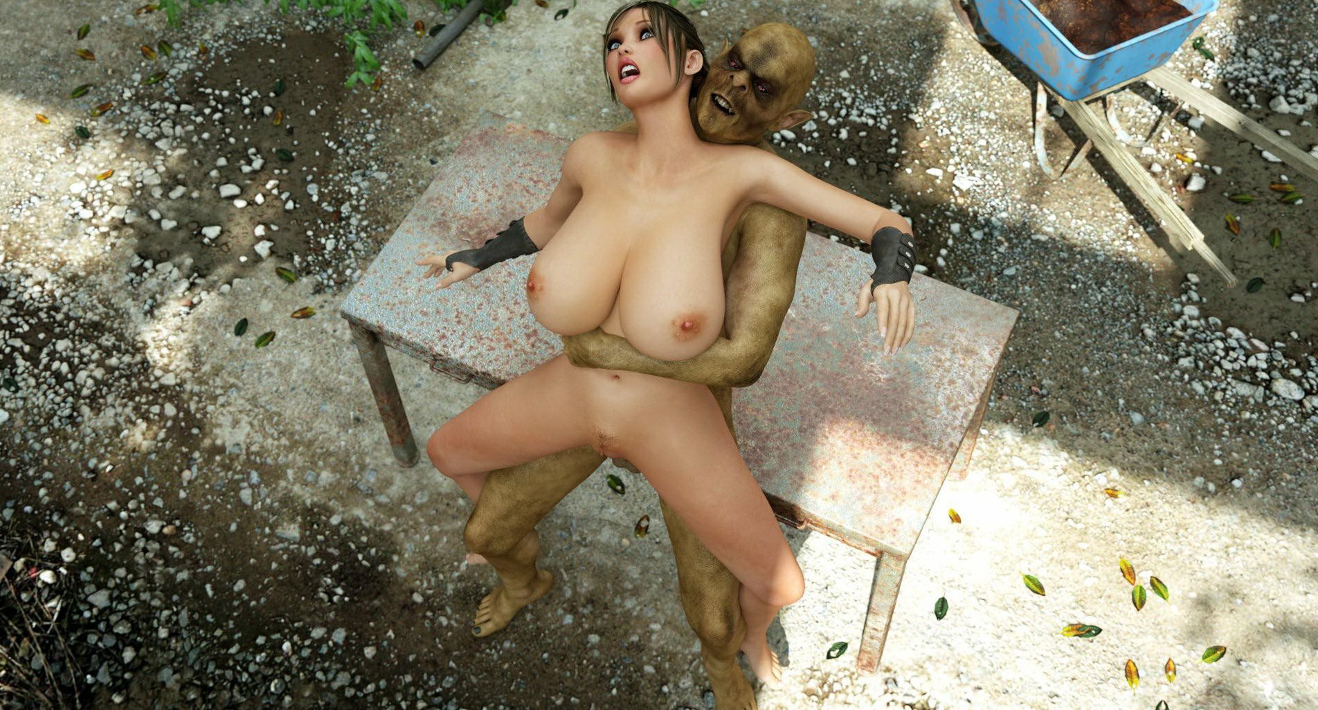 Pussy and ass of 3d lara croft  sexy pornstars