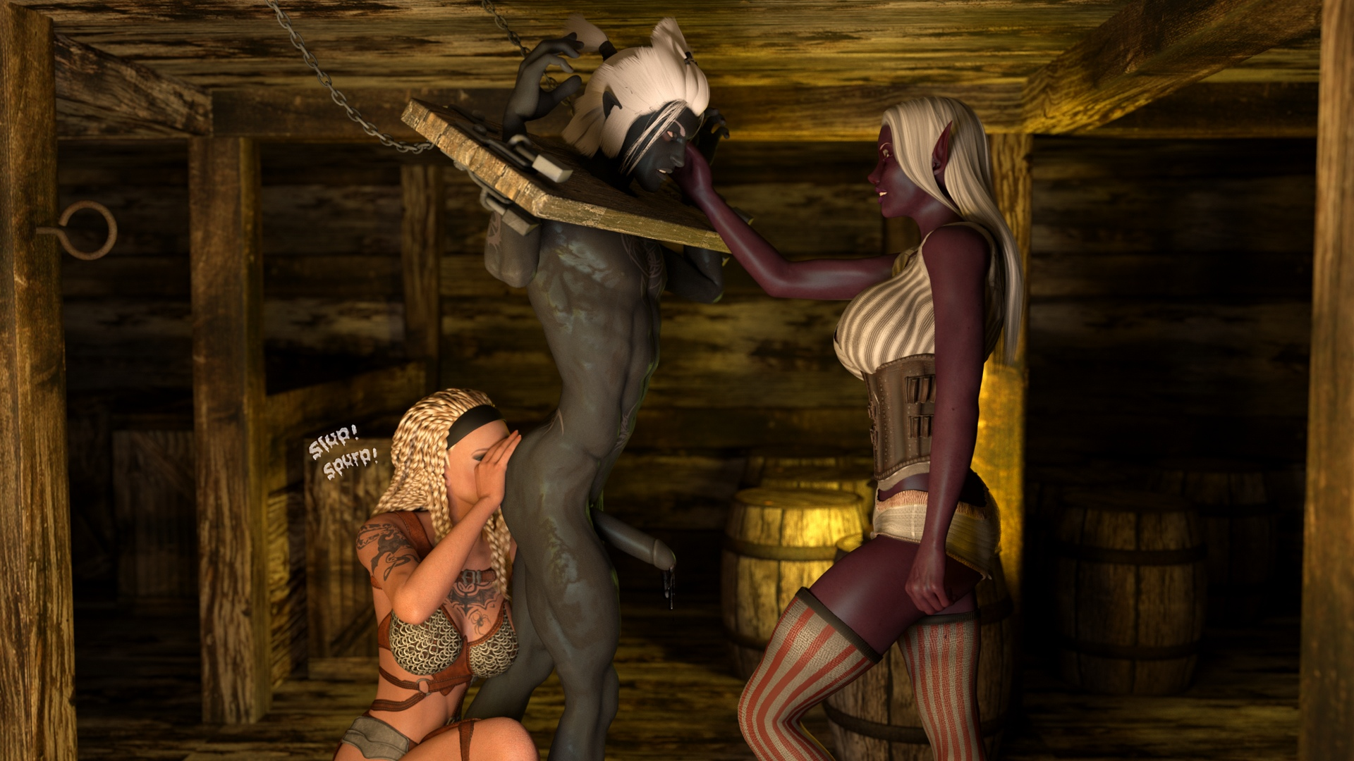 Naked elves slaves adult picture