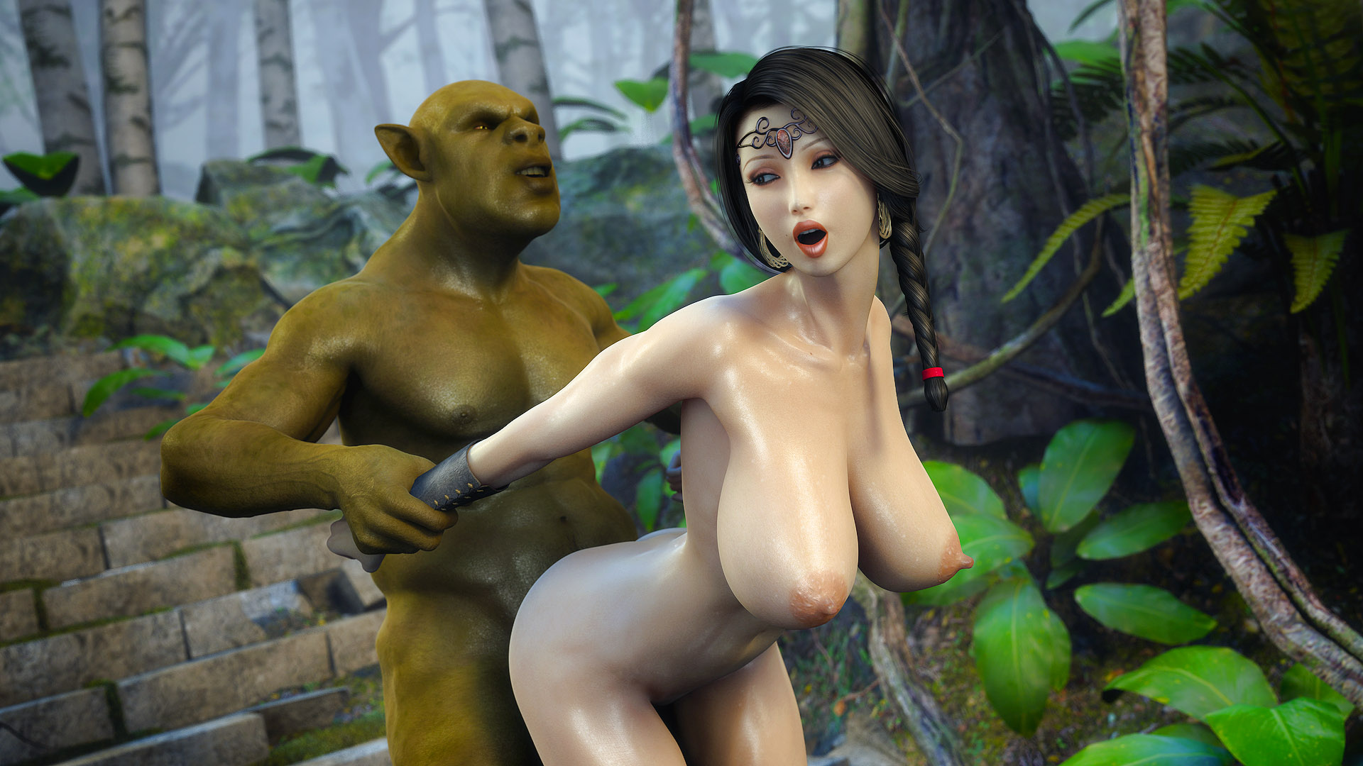 Dark elf vs orcs henati exposed tube