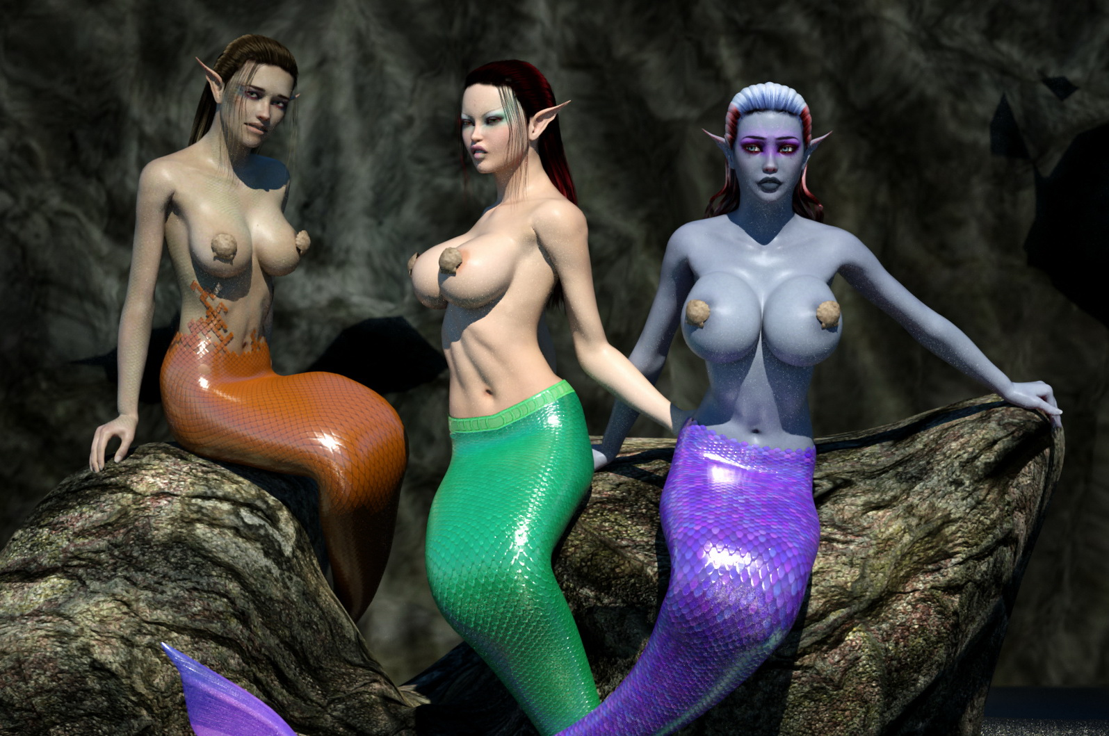 Sexy mermaids with naked boobs naked photos